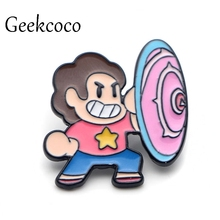 Steven Universe Zinc Alloy Cartoon Pins for men women para Charm insignia Clothes backpack Accessory medal Badges Brooches J0086