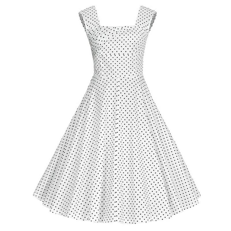 Frauen Sleeveless Floral Bedruckte Audrey Hepburn 50 s Vintage Stil ...