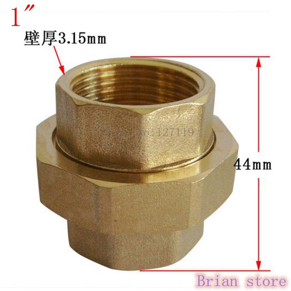 Female Inch Bsp Length Mm Malleable Slip Joint Connection Brass Plumbing Pipe Adapter Union Coupling Psi Bfh