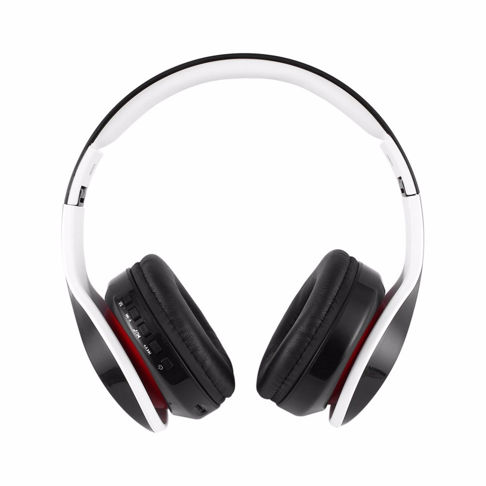 Foldable Stereo Wireless Headset A2DP Bluetooth Sports Headphones with Microphone Support TF Card Reading Function ks 509 mp3 player stereo headset headphones w tf card slot fm black