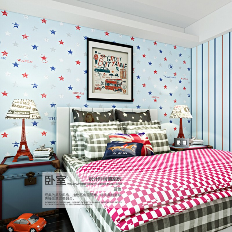 Beibehang British style with Mediterranean AB version boys and girls children's room bedroom 3d wall paper backdrop wallpaper beibehang wall paper pune british children s room girl room ferris wheel import pure paper wallpaper backdrop bedroom bedside