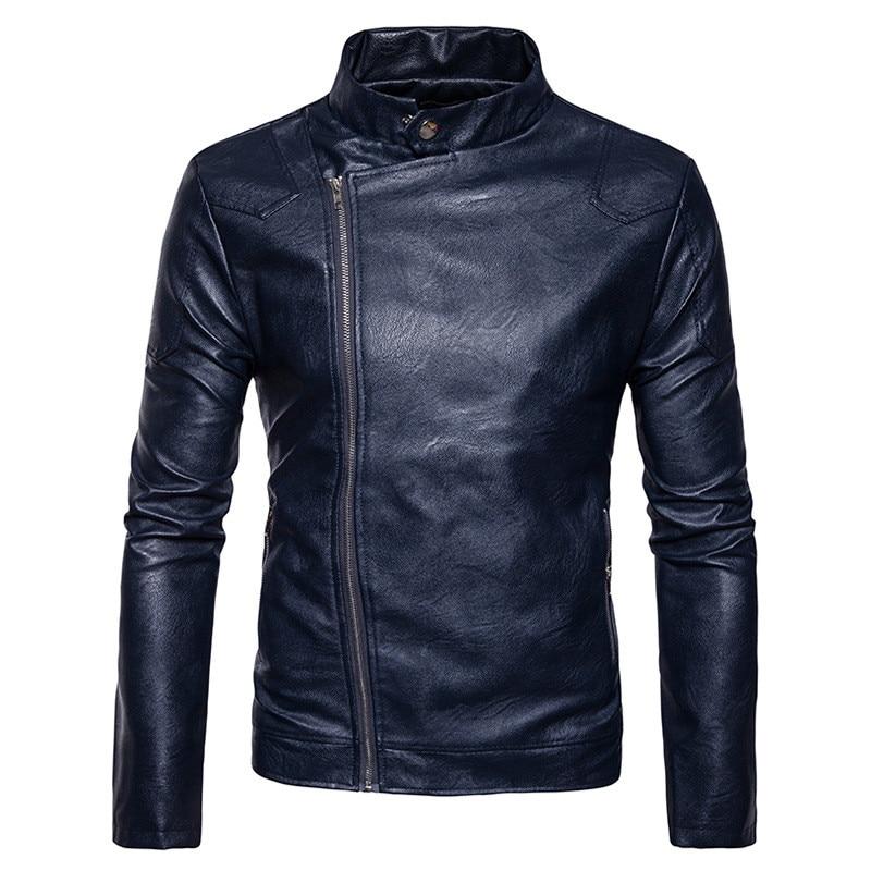 Для мужчин Кожаная Куртка Мода PU Мужской белая кожаная мотоциклетная куртка пальто Для  ...