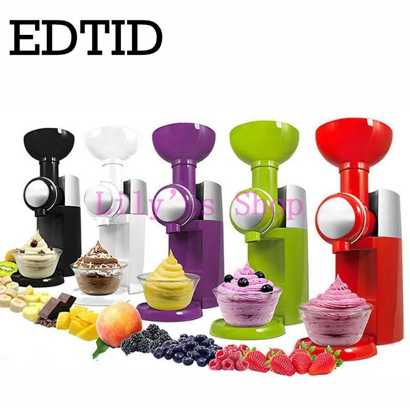 MINI DIY fruit automatic ice cream machine electric soft icecream maker household Frozen Fruit Dessert Maker milkshake 110V 220V diy household mini biscuit maker silver