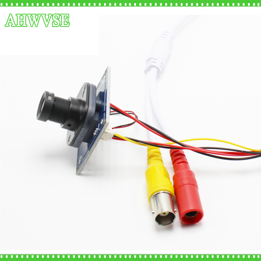 AHWVSE Long Distance View 2.8mm Lens HD 1200TVL CCTV Camera Module Board With IR-CUT And BNC Cable
