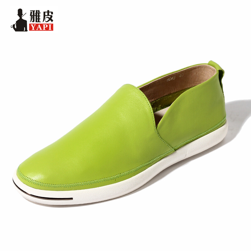 6 Colors Spring Summer Top Genuine Leather Mens Casual Shoes Slip On Driving Car Lofers Business