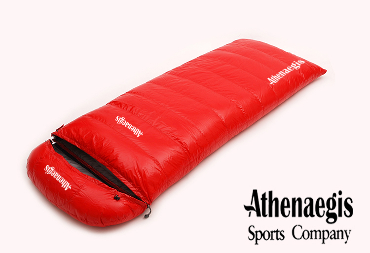Athenaegis neue Ankunft weiße Entendaunen 1200g / 1500g / 1800g / 2000g Füllung gespleißten Umschlag Erwachsenen atmungsaktiven Schlafsack