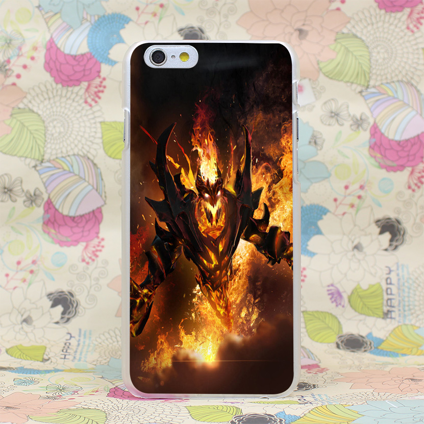 dota 2 shadow fiend hard transparent case cover for iphone 4 4s 5