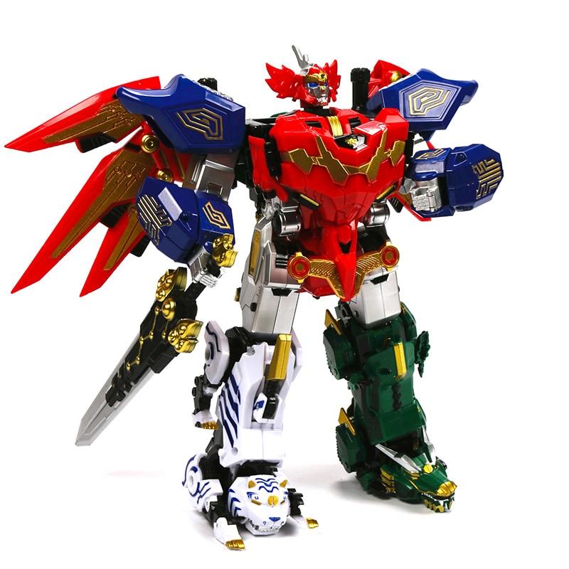 Action Figure Children Gifts Toys Transformation Robot Ranger Megazord Assemble Figure
