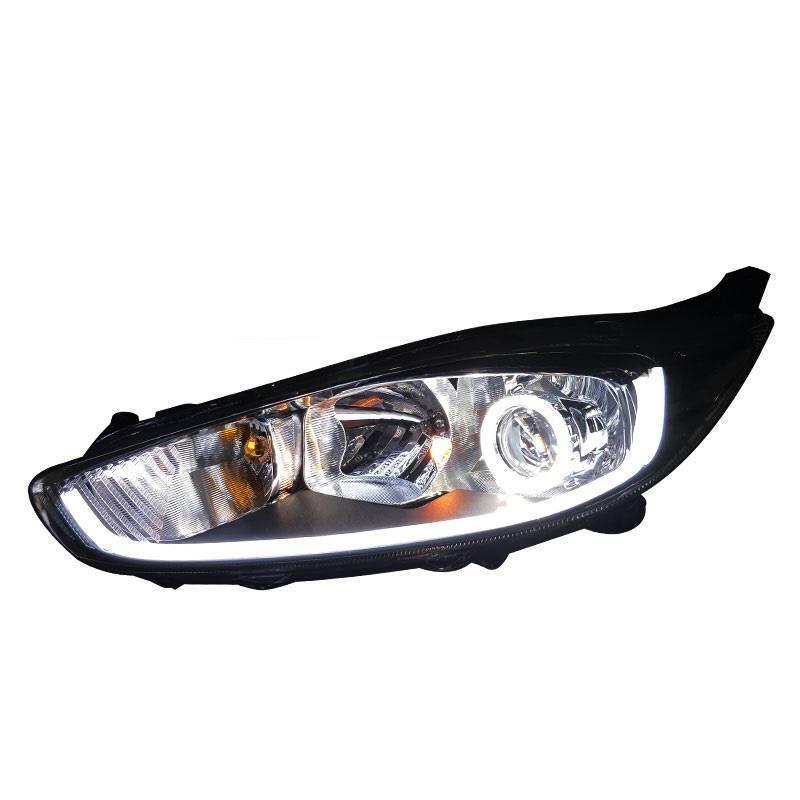 Drl Côté Clignotants Feux de jour Extérieur Luces Led Par Auto Lampe De Voiture D'éclairage Phares Feux Arrière Pour Ford Fiesta