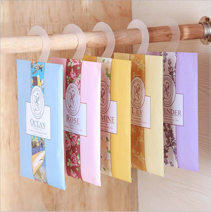 2 Pcs /pack Fragrant Lavender Sachet Hanging Wardrobe Closet Car Odor  Mildew Insect Repellent Clothes
