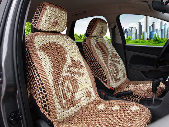Hand Knitted Crochet Artificial Silk Car Seat Cushion Summer Car