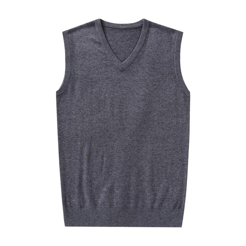 High Quality Mens Cashmere Sweater Vest Autumn Winter Sleeveless