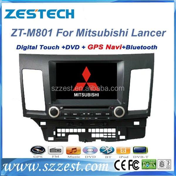 Free Shipping ZESTECH Mitsubishi Lancer Car DVD Player with GPS Bluetooth Dual Zone ipod font b