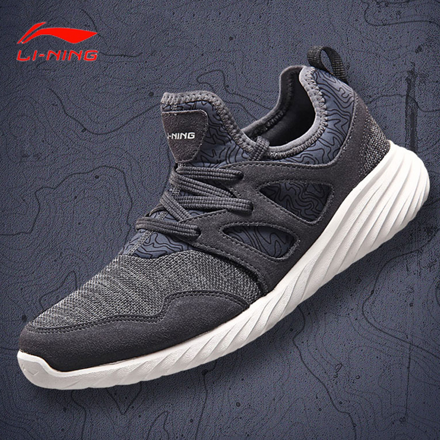 Li Ning Men Walking Shoes Leisure Light Weight Breathable LiNing Sports Shoes Sneakers