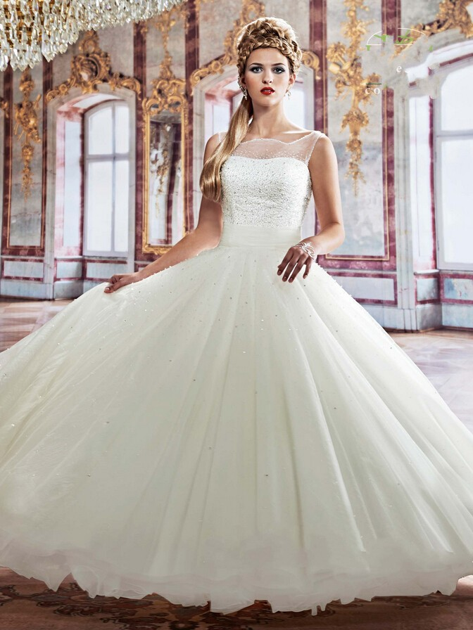 China Online Store Luxury Wedding Dresses Floor Length Ball Gowns ...