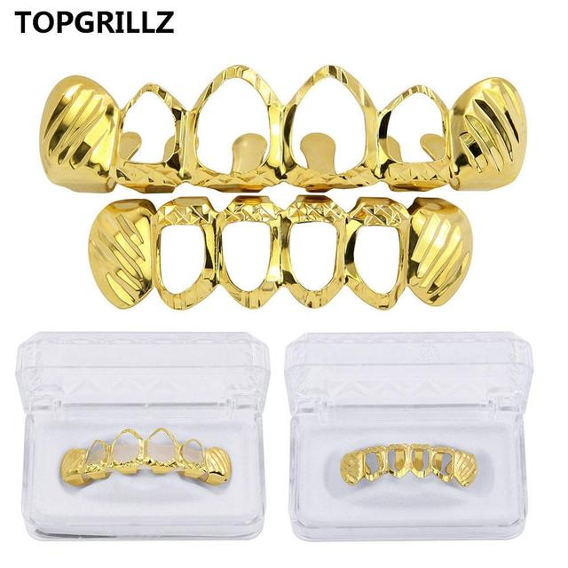 TOPGRILLZ Gold Silver...