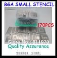 Бесплатная доставка, Новый Прямой нагрев BGA трафареты набор блокнот выделенный 170 шт BGA Шаблон для микросхем реболлинга набор трафаретов