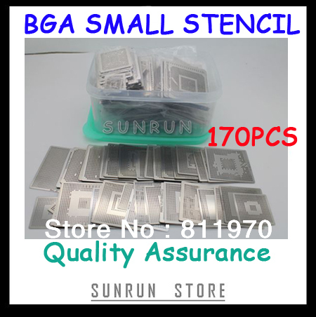 Free Shipping,New Direct Heating BGA Stencils Set Notebook Dedicated 170 pcs BGA Stencil BGA Reballing Stencil Kit free shipping direct heat ps4 stencils 0 4mm 0 55mm solder ball bga reballing stencils