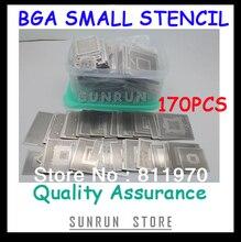 Free Shipping,New Direct Heating BGA Stencils Set Notebook Dedicated 170 pcs BGA Stencil BGA Reballing Stencil Kit