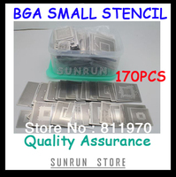 Free Shipping,New Direct Heating BGA Stencils Set Notebook Dedicated 170 pcs BGA Stencil BGA Reballing Stencil Kit