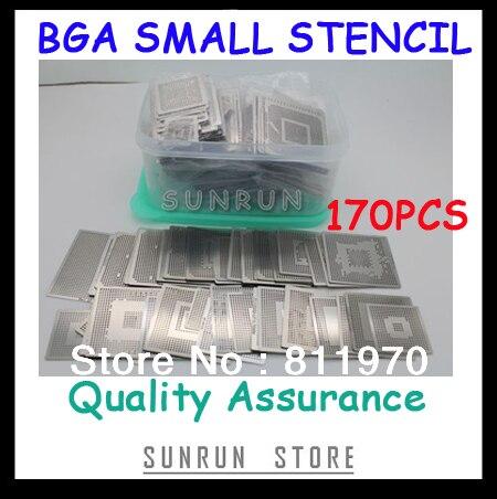 Trasporto Libero, Nuovo Diretto Riscaldamento BGA Stencil Set Notebook Dedicato 170 pcs BGA Stencil BGA Reballing Stencil Kit
