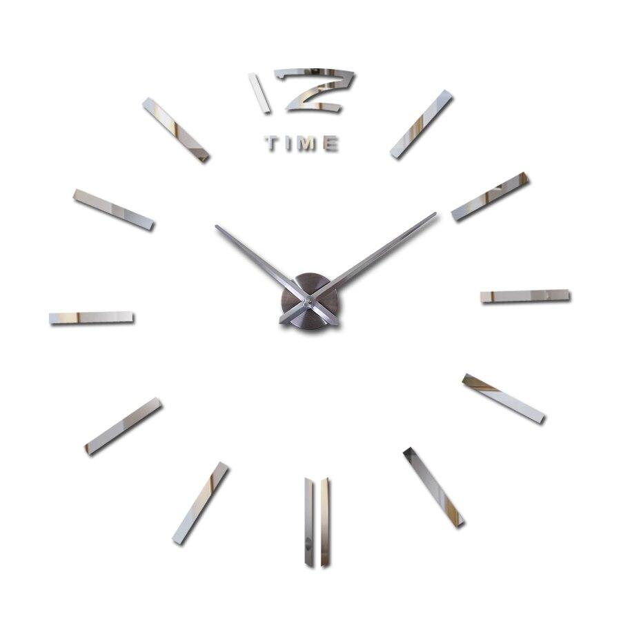949a1595243 Decoração de Parede Relógio de Parede Adesivo de Parede do Projeto Moderno  do Relógio Relógios de Parede 2017 Nova Casa Diy Espelho Digital Grandes  Único ...