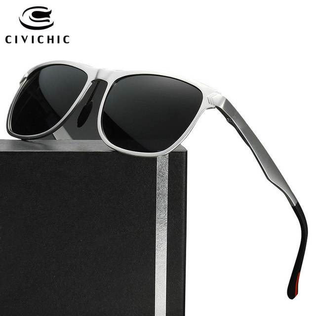 9825c32a9bf CIVICHIC Top Grade Al-Mg Polarized Sunglasses HD Driving Glass Classic Cool  Eyewear Outdoor Oculos