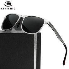 CIVICHIC Top Grade Al-Mg Polarized Sunglasses HD Driving Glass Classic Cool Eyewear Outdoor Oculos De Sol Casual Lunettes E182