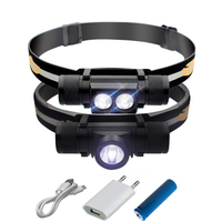 Led Headlight Mini High Performance Cree Xm L2 Smart Power Reminder Torch Head Light Flashlight Warterproof