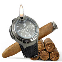 Christmas Gift To Men Montre Homens Mens Military Cigarette Cigar Lighter Watches Reloj Mujer Relogios Masculinos