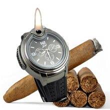 Silicone Montre Homme Charuto Isqueiro Relógio Relógios Militares para Homens Relogio masculino Preto/Prata