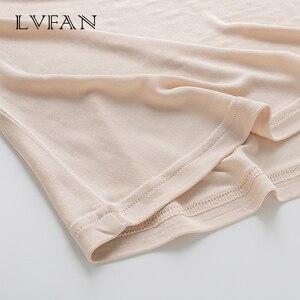 Image 4 - Été nouveaux hauts femmes réservoirs respirant soie solide base gilet col rond haut sans manches fond grande taille chemise LVFAN Y008
