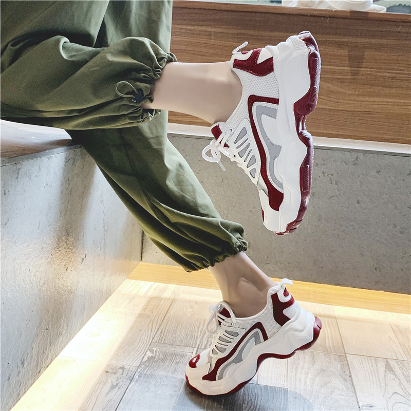 Fashion Chunky Sneakers Women Flats Casual Shoes Women Autumn Summer Soft Leisure Footwear Ladies Platform Sneakers Women 2019 in Women 39 s Vulcanize Shoes from Shoes