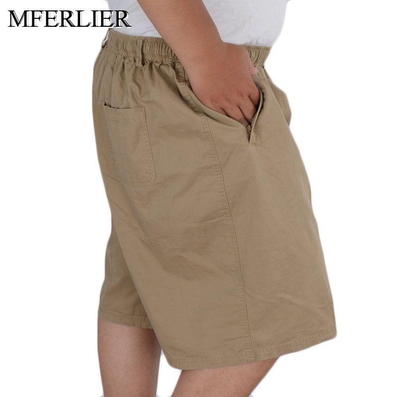 Summer Cotton Shorts Men 5XL 6XL 7XL 8XL 9XL 10XL 11XL 12XL Plus Size Waist 140cm Elastic Waist Men Shorts