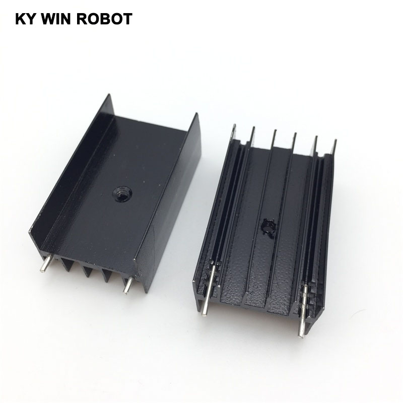2 pcs Aluminium TO-220 Heatsink TO 220 Heat Sink Transistor Radiator TO220 Cooler Cooling 23*16*40MM ...