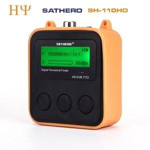 Image 1 - Originele Sathero SH 110HD DVB T2 Lcd scherm Pocket Digitale Aardse Finder Ondersteuning QPSK DVB T2 beter Satlink ws 6905 ws 6915