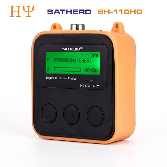 Originele Sathero SH 110HD DVB T2 Lcd scherm Pocket Digitale Aardse Finder Ondersteuning QPSK DVB T2 beter Satlink ws 6905 ws 6915