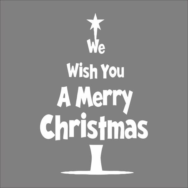 Weihnachtsbaum Wir Wünsche Ihnen Ein Frohe Weihnachten Wandaufkleber ...