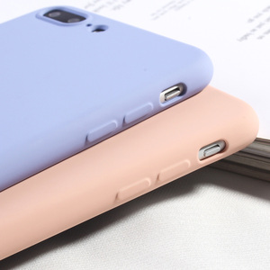 Image 1 - Funda de teléfono Color caramelo para iPhone 8 Plus funda de silicona líquida de lujo para iPhone 6 6 s Plus 7 8 X XS X XR XS Max suave TPU Capa