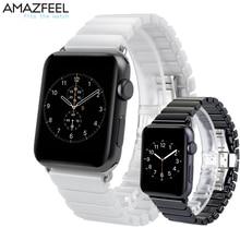 Faixa de Relógio de Cerâmica Relógio de Pulseira Para Apple 42 AMAZFEEL mm 38mm Relógio iwatch 1 2 3 Acessórios Para Apple alça Pulseira