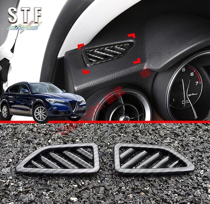 Interior Dashboard Air Vent Outlet Trim Cover For Alfa Romeo Stelvio 2017-2019