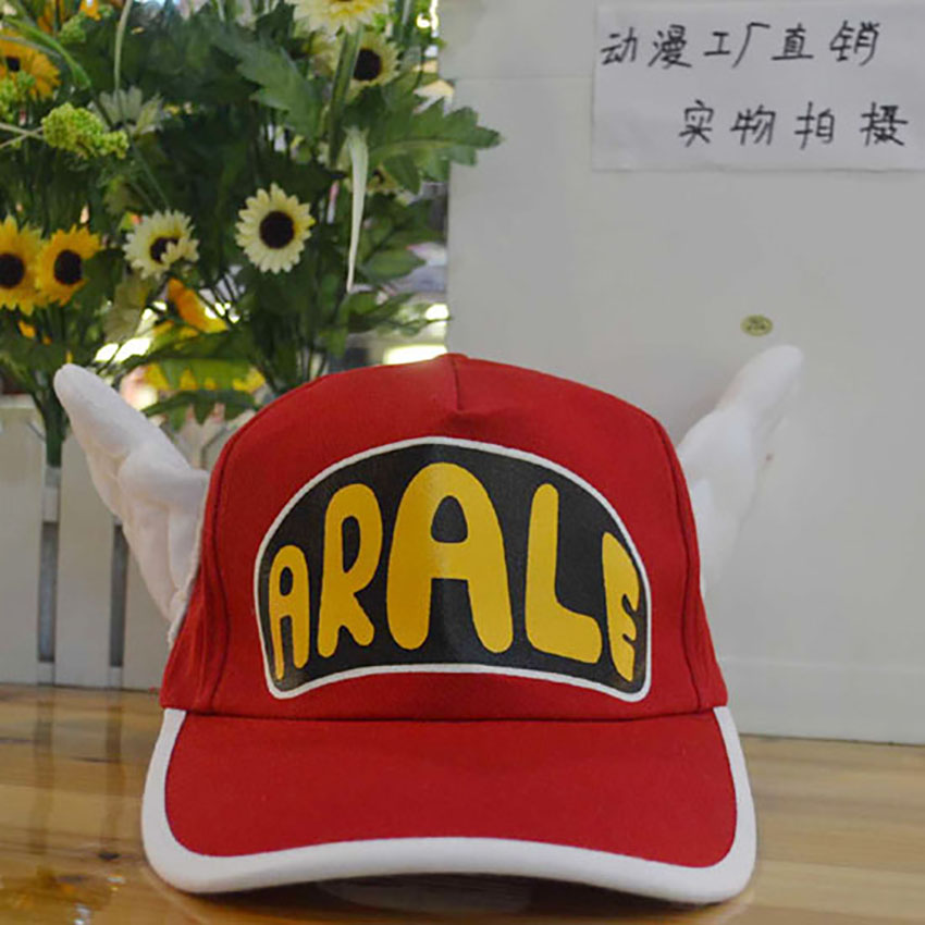 Hot Sale Anime Arale Adjustable Angel Wings Cap Cosplay Plush Sun Hat Unisex Baseball Cap Gift free shipping hot sale fashion cosplay anime dramatical murder dmmd noiz knitted hat beanie cotton warm cap