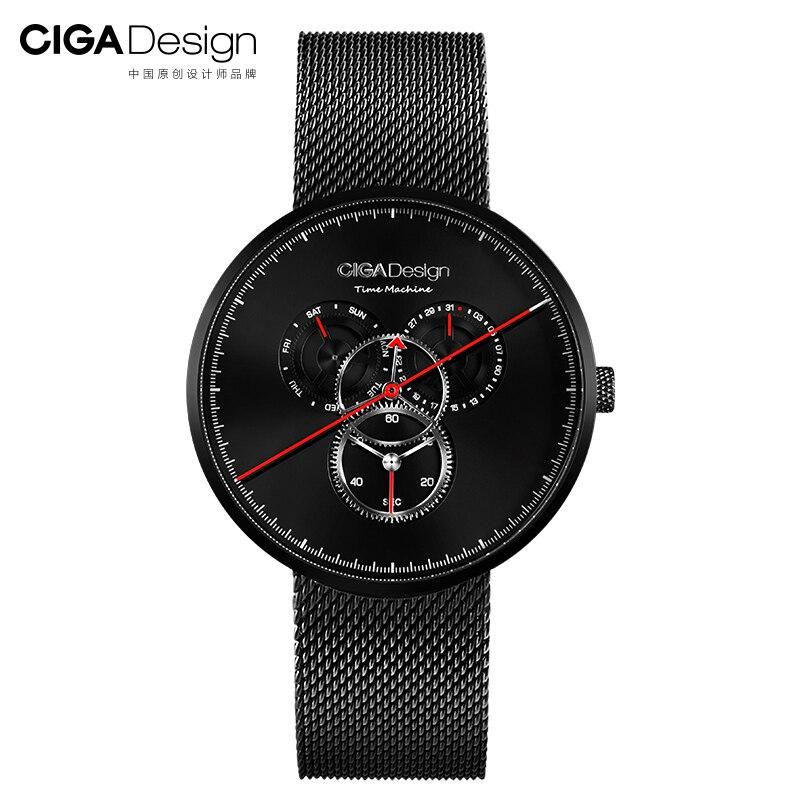 В наличии Xiaomi Ciga часы Time Machine три шестерни дизайн простой кварцевые часы один указатель дизайн регулируемая Дата часы