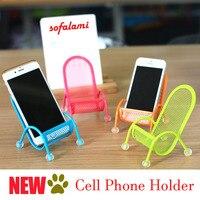 Cep Telefonu Metal Tutucu Yaratıcı Cep Telefonu Standları Masaüstü güneş yatağı iPhone 7 Için braket 8 Artı Galaxy S7 S8 Fit 3-6 inç