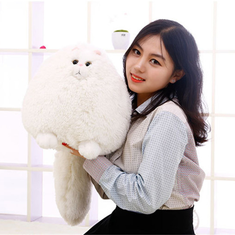 Hanhanho 100cm Persian Cat Plush Toys Super Soft Stuffed Fat Cats Kawaii Pillow Soft Toys Stuffed Animal Plush Dolls Gifts