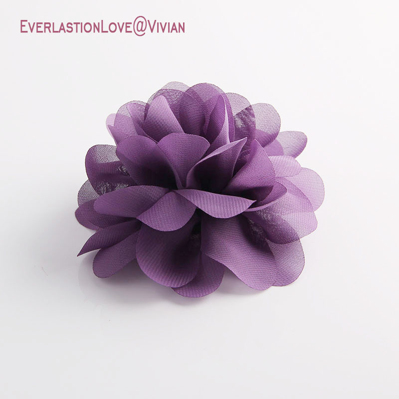 ELLV Fashion Women Pin Vintage Handmade Chiffon Fabric Brooches Jewelry Badge Rose Flowers Brooch Pins For Hair Decoration 2019