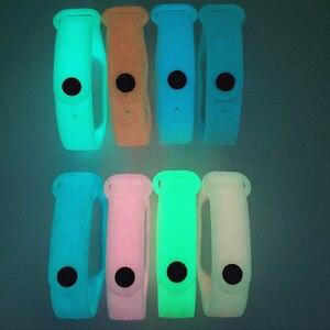 Image 5 - BOORUI مضيئة سيليكون Miband 3 حزام pulsera قابل للتعديل الملونة المعصم حزام استبدال ل شاومي mi 3 الذكية أساور الفرقة