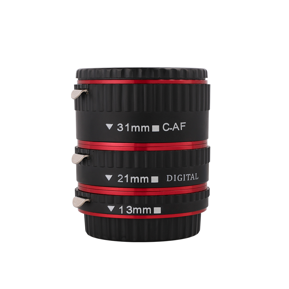 Image 4 - Kaliou 13mm 21mm 31mm Auto Focus Macro Extension Tube Set for Canon EF EF S Lens Canon 700d t5i 7d 5d Black Red Silver color-in Lens Adapter from Consumer Electronics