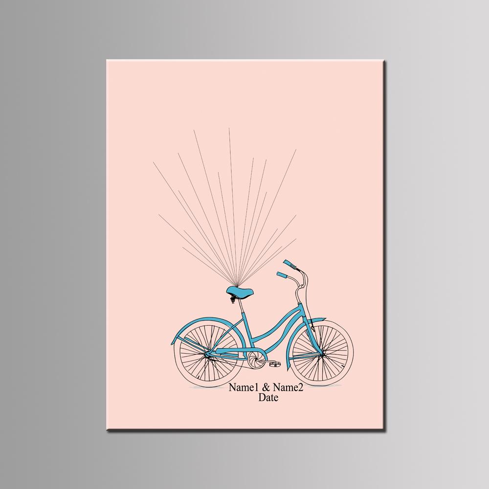 Free Personalized Custom Wedding Blue Bike,Balloon Fingerprint DIY ...