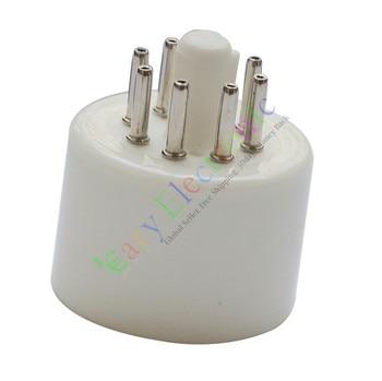 Wholesale and retail 20pc 8pin Ceramic tube socket valve base Triode Rectifier KT88 EL34 6550 6SN7 free shipping